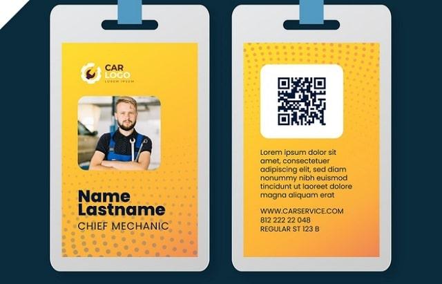 Desain ID Card Minimalist 11
