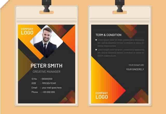 Desain ID Card Unik 9